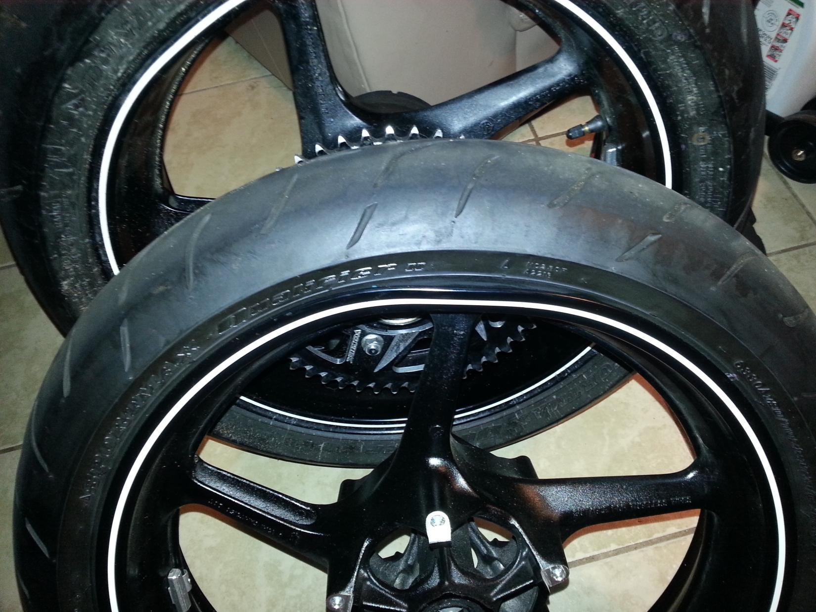 Front wheel bent but holding air Safe Speedzilla Motorcycle