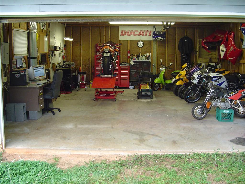 Motorcycle Garage Ideas : Motorcycle Garage Shop Ideas