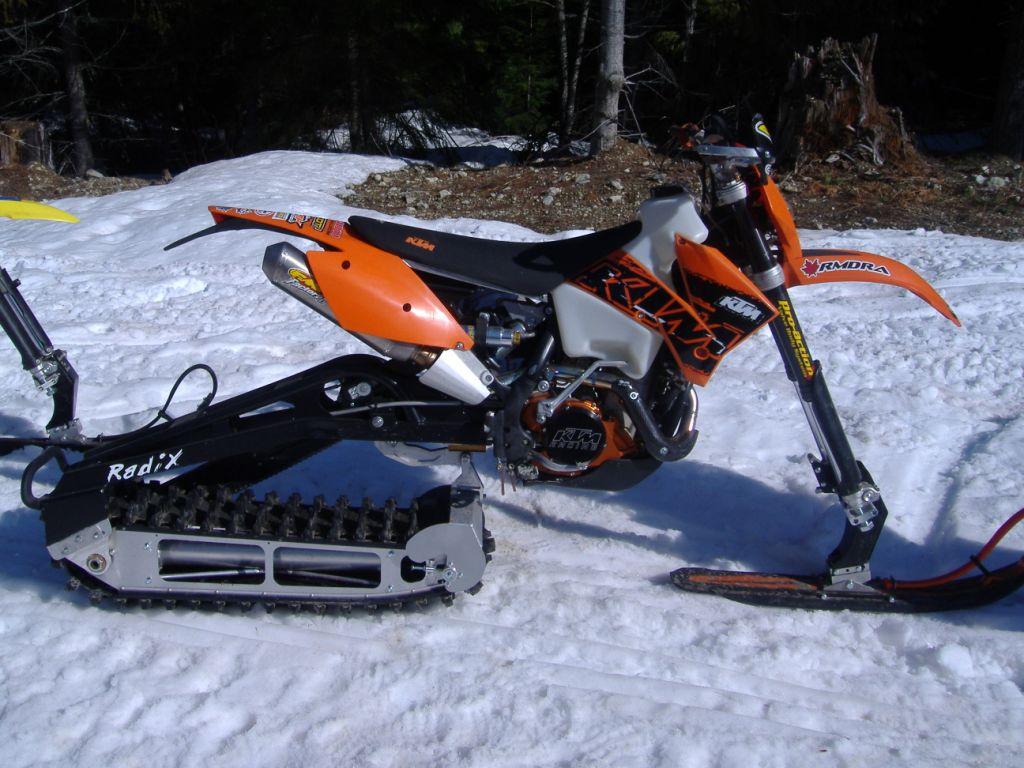 Raupenantrieb motocross