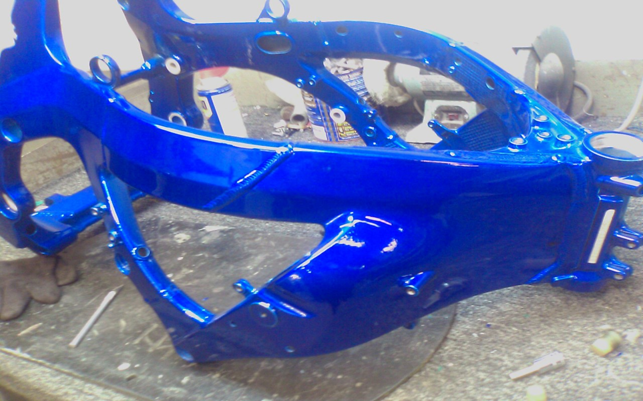 painting frame and swingarm advice please speedzilla motorcycle message forums - Motorcycle Frame Paint