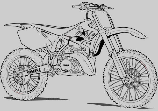 free coloring pages of yamaha motorbike