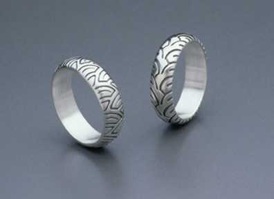 attached images - Biker Wedding Rings