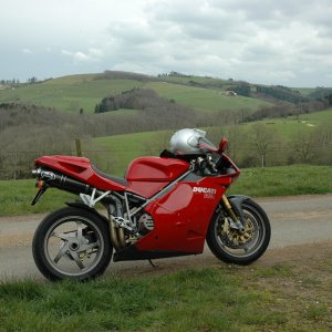 near Lyon, France, my 998 S, March 31 2007